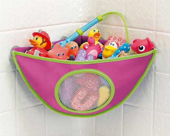 Organizador de Brinquedo de Banho Rosa