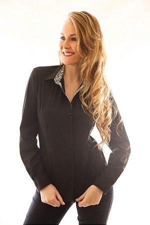 Camisa Slim Clover Black