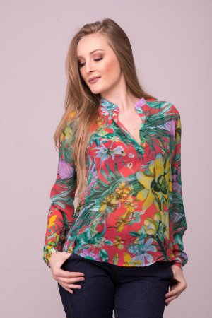 Camisa Estampada Flowers