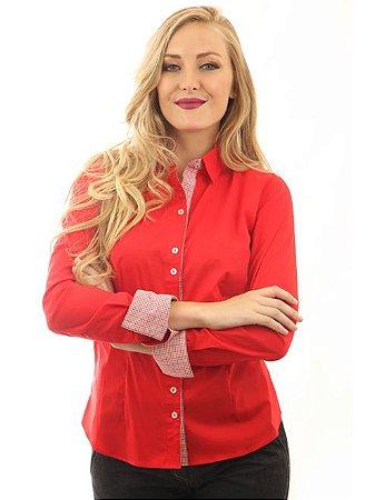 Camisa Feminina Vermelha Marine