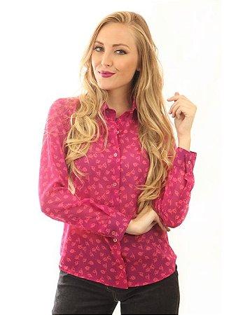 Camisa Feminina Tulipa Rosa