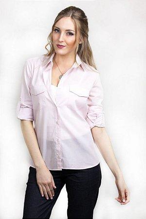 Camisa Social Feminina Ralph Rosa