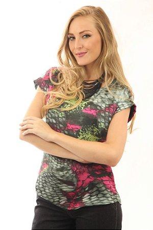 Blusa Feminina com decote Canoa Pitton