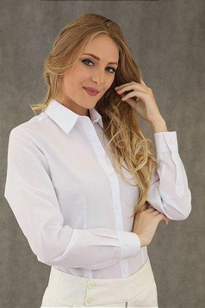 Camisa Feminina Branca Prática (amassa pouco)