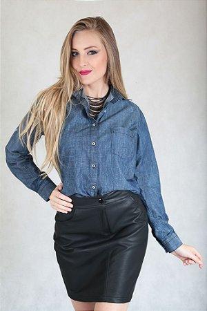 Camisa Feminina Jeans Blue
