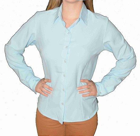 Camisa Azul Claro Prática (amassa pouco)
