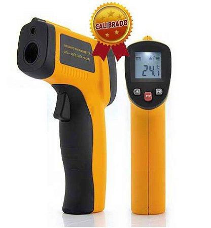 Termômetro Infra Vermelho Com Certificado de Calibração Rastreado à RBC Modelo GM-300