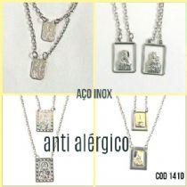 Escapulário Aço inox e anti-alérgico