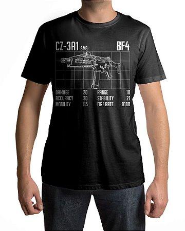 Camiseta BF4 Battlefield BF4 CZ-3A1