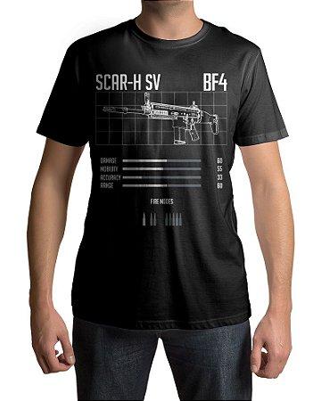 Camiseta BF4 Battlefield 4 SCAR-H SV