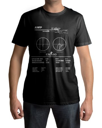 Camiseta CS:GO Counter Strike AWP Specs