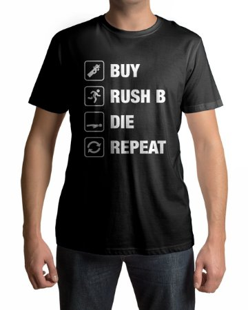 Camiseta CS:GO Counter Strike Loop