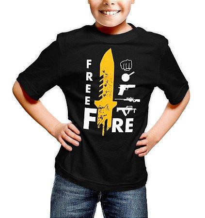 Camiseta Infantil Free Fire Loot
