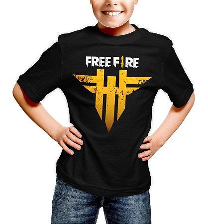 Camiseta Infantil Free Fire Logo