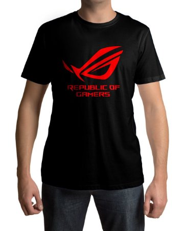 Camiseta PC Gamer ROG Red