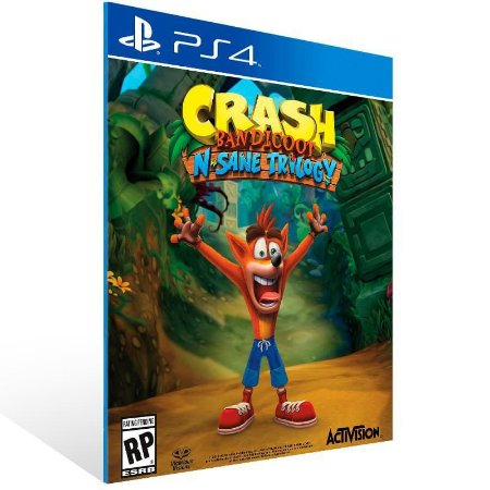 CRASH BANDICOOT N.SANE TRILOGY- PS4 - MÍDIA DIGITAL