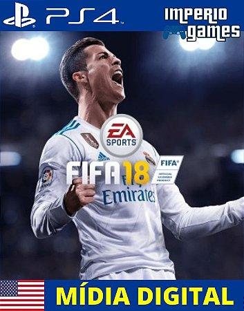 FIFA 18- PS4 - MÍDIA DIGITAL