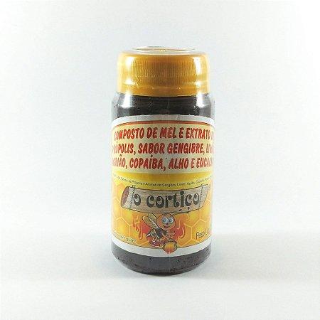 Composto de Mel, Extrato de Própolis e Aromas de Gengibre, Limão, Agrião, Copaíba, Alho e Eucalípto - O Cortiço - 150g