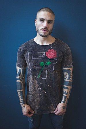 Camiseta Effel Sigla Gltter Rose