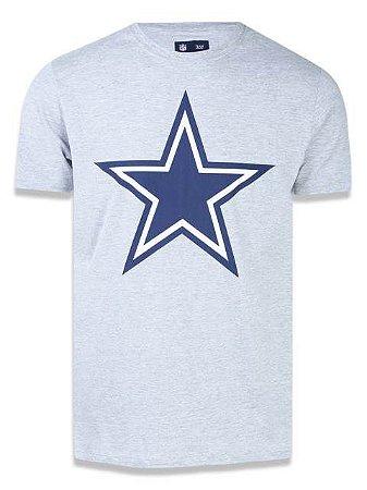 6bfa44b7994a6 Camiseta NFL Dallas Cowboys New Era - Mescla Cinza - Sport America
