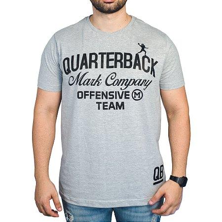 Camiseta Quarterback Mark Company - Mescla Cinza
