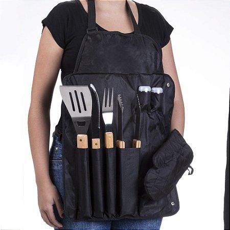 6f70dfdea52cb0 Kit churrasco avental personalizado nas 2 facas 5184 Valor para 1 peça