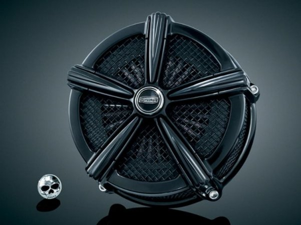 Filtro de Ar Kuryakyn Mach2 Hi-Five 9555 Black Kit para Harley Davidson Sportsters