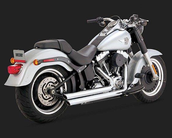 Escapamento Vance & Hines Big Shots Staggered 17939 para Harley Davidson Softails ano 86 a 2017