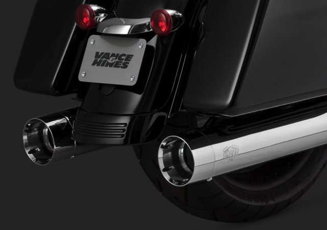 Escape Vance & Hines OVERSIZED 450 TITAN SLIP-ONS 16650 para Harley Davidson Milwaukee Eight