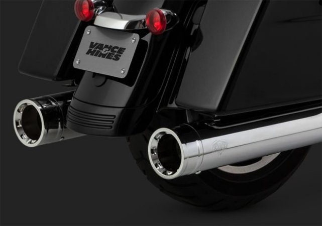 Escapamento Vance & Hines OVERSIZED 450 DESTROYER SLIP-ONS 16654 Harley Davidson Milwaukee Eight