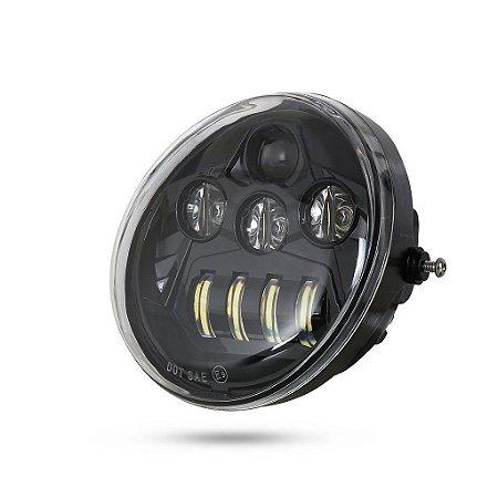 Farol Principal LED Daymaker Projector LED para Harley modelos V-Rod