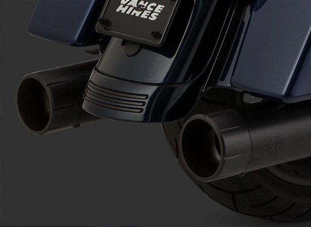 Escapamento Vance & Hines OVERSIZED 450 RAIDER SLIP-ON Black 46658 para Harley Davidson Touring Milwaukee Eight