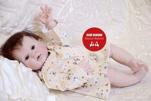 Bebê Reborn Menina Detalhes Reais Princesinha Perfeita E Delicada Toda Em Vinil Articulável