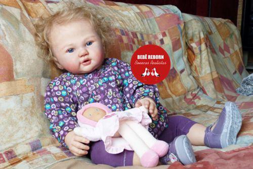 Boneca Bebê Reborn Menina Detalhes Reais Criança Grande Toddler 65 Cm Fofa E Encantadora