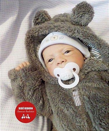 Bebê Reborn Menino Detalhes Reais Bebê Sofisticado Com Chupeta E Um Lindo Enxoval Promoção