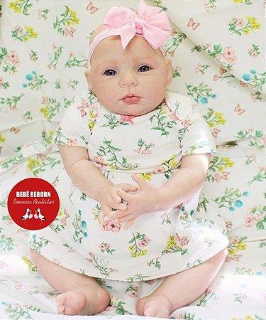 Bebê Reborn Menina Detalhes Reais De Um Bebê de Verdade Pura Fofura Com Enxoval E Chupeta