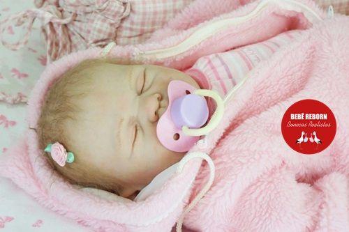 Bebê Reborn Menina Detalhes Reais De Um Bebê Linda E Muito Fofa Com Enxoval E Chupeta