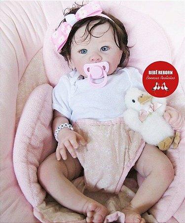 Bebê Reborn Menina Realista Com Detalhes De Um Bebê De Verdade Acompanha Lindo Enxoval