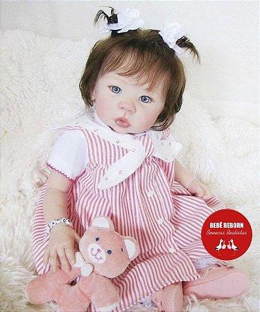 Bebê Reborn Menina Detalhes Reais Linda Princesinha Com Enxoval E Acessórios
