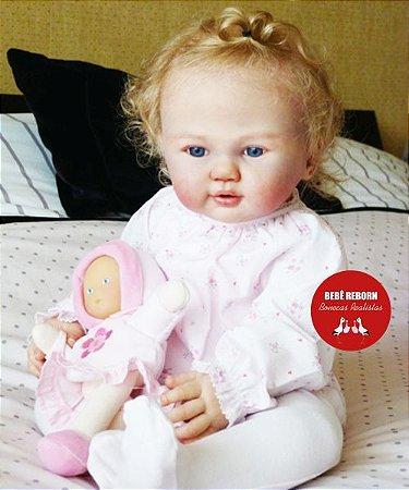 Bebê Reborn Menina Realista Criança Grande Toddler 65 Cm Lindíssima Com Enxoval Completo