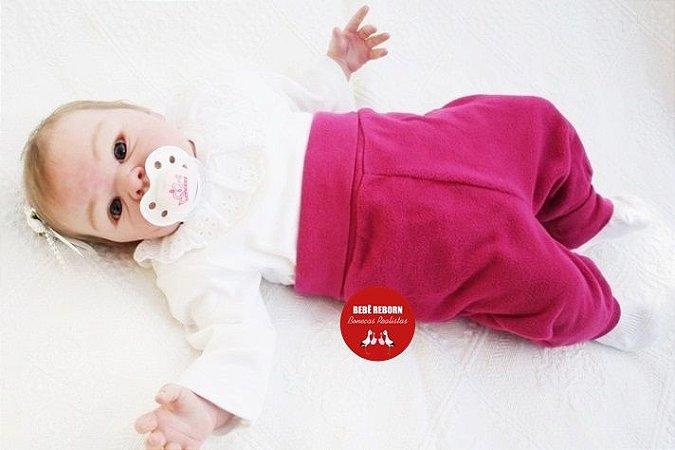 Bebê Reborn Menina Detalhes Reais Bebê Muito Fofa E Linda Um Amor De Bebê Com Enxoval