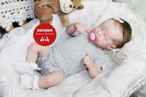 Boneca Bebê Reborn Menina Realista Graciosa E Perfeitinha Toda Em Vinil Membros Articuláveis