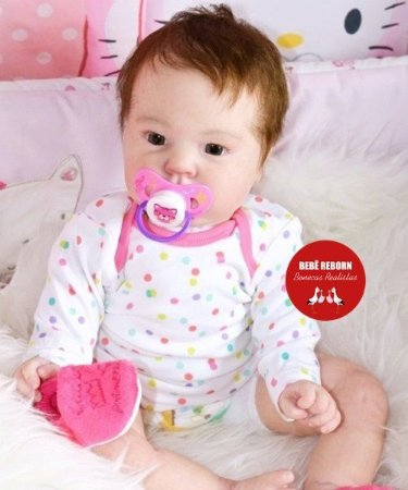 Boneca Bebê Reborn Menina Realista Super Linda E Fofa Acompanha Acessórios  E Lindo Enxoval