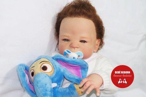 Bebê Reborn Menino Detalhes Reais Bebê Artesanal Sofisticado Todo Em Vinil Siliconado