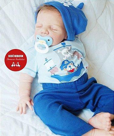 Bebê Reborn Menino Detalhes Super Reais Bebê Sofisticado E Encantador Acompanha Lindo Enxoval