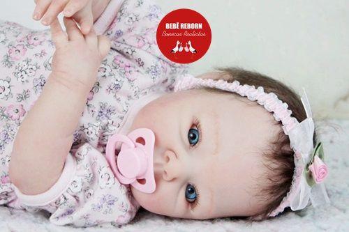 Bebê Reborn Menina Parece Um Bebê De Verdade 51 Cm Bela Princesa Com Enxoval E Acessórios