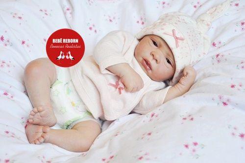 Boneca Bebê Reborn Menina Detalhes Reais Lindíssima Muito Fofa E Graciosa Com Lindo Enxoval