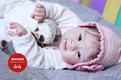 Boneca Bebê Reborn Menina Bebê Quase Real Muito Fofa E Encantadora Acompanha Enxoval