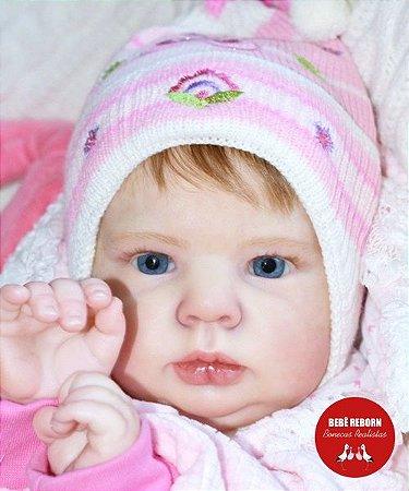 Boneca Bebê Reborn Menina Realista Super Linda Parece Um Bebê De Verdade Acompanha Enxoval