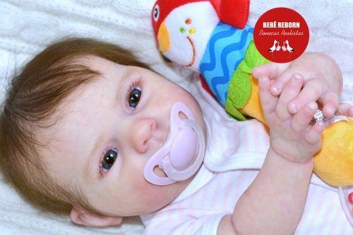 Bebê Reborn Menina Realista Bebê Recém Nascida Muito Linda E Fofa Com Enxoval E Chupeta